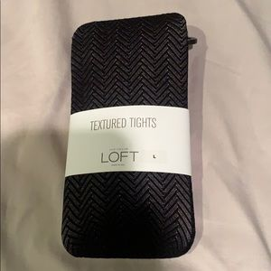 Ann Taylor loft textured tights